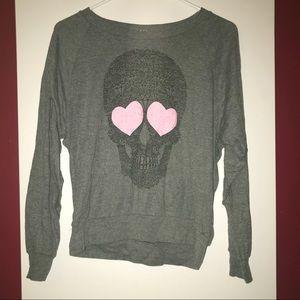 Soft skull diamond sweater ModCloth Medium